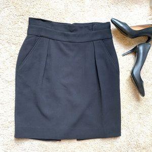 Kate Spade Black Pencil Skirt Side Pockets Size 10